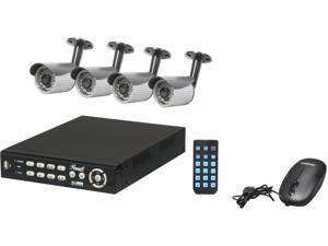 "Rosewill RSVA-11001 8 channel + 4 Sony 1/4"" CCD  21 IR LED Bullet Cameras, H.264 High performance DVR, Remote Monitoring/Real ..."