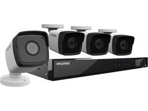 LaView 1080P PoE IP 8 Channel Security Camera System with 4 HD 2MP Cameras