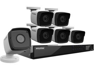 LaView 1080P PoE IP Security Camera System, 6 HD 2MP cameras with Matrix IR day/night view, 8 Channel NVR (NO HDD included, Sold Separately)