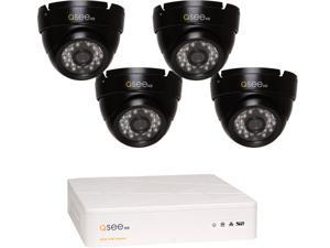 Q-See QTH4-4CP 4-Channel AHD Surveillance DVR with 4 x 720P Day / Night In / Outdoor Security Cameras