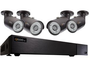Q-See 4MP Resolution & 4K Output Surveillance Security Camera System: 8 Ch. Analog HD DVR 4 x 4MP Bullet Camera (No HDD Included)