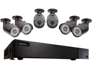 Q-See 4MP Resolution & 4K Output Surveillance Security Camera System: 8 Ch. Analog HD DVR 6 x 4MP Bullet Camera (No HDD Included)