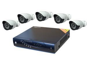 Aposonic A-BR18B5-C500 8 Ch + 5x 700 TVL Bullet Cameras + 500GB pre-installed HDD with H.264 Level Kit Solution, Mac OS X ...