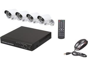 Aposonic A-BRHB4-CK 8 Ch H.264 DVR with 4x 700 TVL Sony Exview HAD II Cameras Surveillance DVR Kit