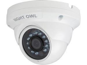 NightOwl 1080p HD Analog White Audio Enable Dome Camera with 100 ft. Night Vision & 60ft. of cable (compatible with all HDA Analog Night Owl Systems)