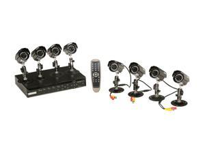 KGuard CA108-H03 8 Camera+8 Channel DVR with Remote Web / Mobile Phone Access (HD Sold Separately)