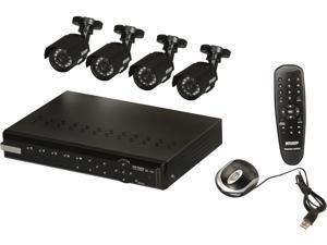 KGuard CA104.V2-C02 4 Ch DVR + 4 CMOS, 420 TVL, Bullet Cameras, Surveillance Kit Solution