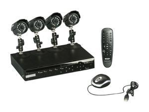 KGuard CA108-H02-500G 8 Ch DVR + 4 CCD, 420 TVL, Bullet Cameras + 500GB HDD, Surveillance Kit Solution
