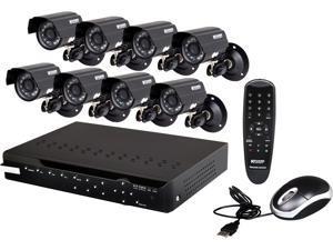KGuard CA108-H03-500G 8 Ch DVR + 8 CCD, 420 TVL, Bullet Cameras + 500GB HDD, Surveillance Kit Solution