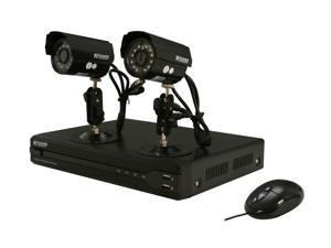 KGuard OT401-2CW134M Surveillance Kit (4CH H.264 DVR with 2 CMOS 420 TVL Cameras) with Remote Web/Mobile Phone/Tablet Access