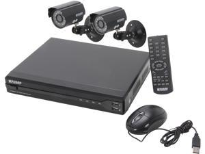 KGuard OT401-2CW134M-500G 4 Channel Surveillance DVR Kit