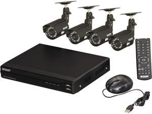 KGuard OT801-4CW134M Surveillance Kit (8CH H.264 DVR with 4 CMOS 420 TVL Cameras) with Remote Web/Mobile Phone/Tablet Access