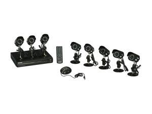 KGuard OT801-8CW134M Surveillance Kit (8CH H.264 DVR with 8 CMOS 420 TVL Cameras) with Remote Web/Mobile Phone/Tablet Access