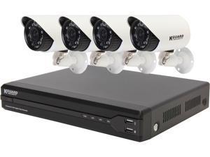 KGuard KG-OT801-4HW227A-500G 8 Channel Surveillance DVR Kit