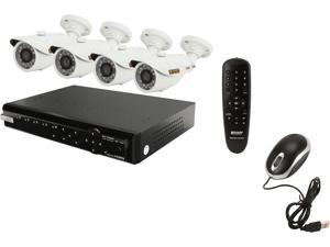 KGuard NS421-4HW227D-1TB 4 Channel 960H DVR w/1TB HDD, 4 X 600 TVL Day/Night,  In/Outdoor Camera, All-In-One Surveillance ...
