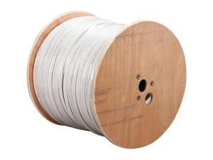 LTS LTS10PCW3 RG59 95% Braided + DC Cu1000 UL Certified Coaxial Cable Spool - 1000 ft.