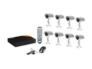 LTS 8 Camera+ 8 Channel 500GB DVR with Hi-Res VGA and IE/Safari/Mobile Phone Access (LTD08HTDK)