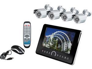 "LTS LTD7084DK6 8 Channel H.264 Level 10"" Tablet DVR w/ 4 x 600TVL Cameras & 500GB Surveillance HDD"