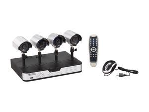 Zmodo PKD-DK0863-500GB 4 Camera + 8 CH DVR with 500GB / Remote Web / Mobile Phone Access