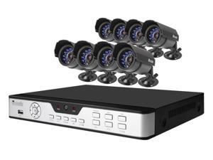 Zmodo PKD-DK0855-500GB 8CH 960H DVR w/ 500GB HDD and 8 x 600TVL Day/Night Outdoor Cameras 3G Mobile Access Surveillance Kit