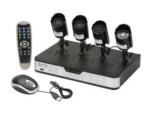 Zmodo PKD-DK4216 4 Channel H.264 DVR 3G Remote View + 4 CMOS 480TVL Outdoor 3G Mobile Access Surveillance Kit