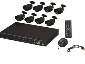 Zmodo KDF6-SARAZ8ZN-1TB 16 channel H.264 D1 DVR BGA 3G remote view access w/ 1TB HDD + 8 x 480TVL CMOS Outdoor day/night ...