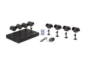 Vonnic DKSY0808S 8 channel + 8 Bullet Cameras 12 IR H.264 High performance DVR, Remote Monitoring/Real time record,display/CMS/500GB ...