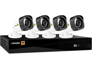 Defender HD 1080p 4 Channel 1TB DVR Security System and 4 Bullet Cameras with Mobile Viewing