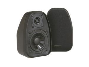 "BIC America DV-32B 3.5"" 2-Way Compact Shielded Speakers - Black Pair"
