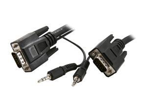 Rosewill RCW-H9022 - 10-Foot VGA / SVGA Male to Male Cable with 3.5mm Stereo Audio Connector