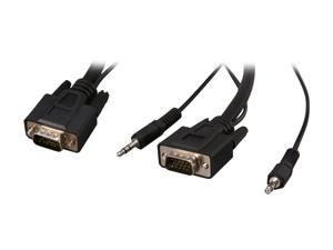 Rosewill RCW-H9024 - 25-Foot VGA / SVGA Male to Male Cable with 3.5mm Stereo Audio Connectors
