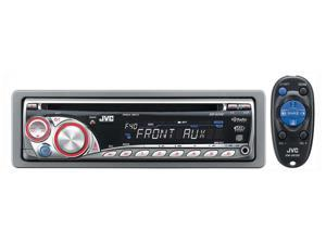 JVC In-Dash CD Receiver with Front AUX