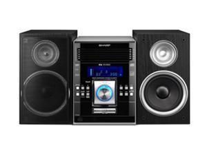 Sharp Cd Mp3 Radio 5 Disc Changer Shelf System Xl Uh270