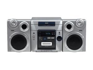 RCA CD/Cassette/MP3/Radio 5-Disc Changer Shelf System RS2653