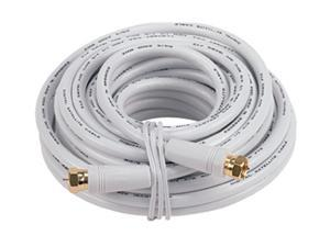 RCA VH625WHN 25 ft. Digital RG6 Coaxial Cable in White Color w/ F connector
