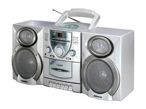 COBY CD/Cassette/Radio 1-Disc Changer Mini Audio System CX-CD400