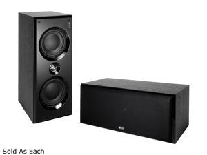 KEF C6 LCR Left / Center / Right Speaker (Black Ash) Each
