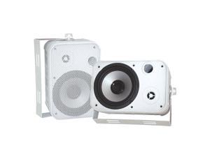 "PYLE PD-WR50W 2 CH 6.5"" Indoor / Outdoor Waterproof White Speakers Pair"