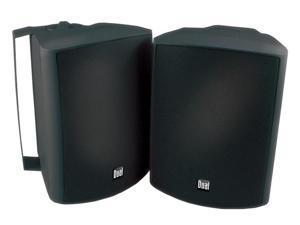 """Dual LU53PB 5.25"""" Indoor/Outdoor 3-Way Dynamic Loudspeakers Black Pair"""
