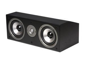 Polk Audio CS1 Series II Center Channel Speaker (Black) Single