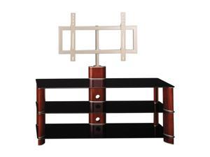 "BUSH FURNITURE VS11550A-03 Up to 60"" Rosebud Cherry Segments TV Stand with Swivel Mount"