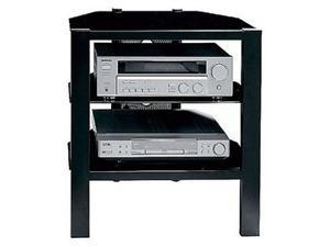"BUSH FURNITURE Cobra Series VS44936-03 Up to 42"" Black TV Stand, max load 100lbs"