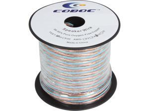 Coboc SPW-2C16-50-CL 50ft 16AWG 2-Conductor Oxygen-Free Copper OFC Speaker Wire Cable,Clear