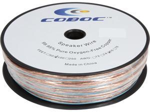 Coboc Model SPW-2C16-100-CL 100ft 16AWG 2-Conductor Enhanced Loud Oxygen-Free Copper OFC Speaker Wire Cable