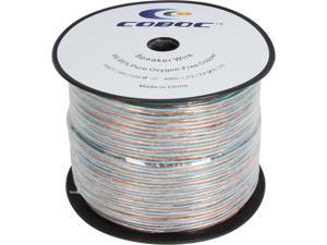Coboc Model SPW-2C16-300-CL 300ft 16AWG 2-Conductor Enhanced Loud Oxygen-Free Copper OFC Speaker Wire Cable