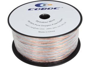 Coboc Model SPW-2C12-100-CL 100ft 12AWG Enhanced Loud Oxygen-Free Copper OFC Speaker Wire Cable