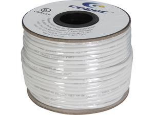 Coboc Model SPW-CL2-2C18-250-WH 250ft 18AWG CL2 Rated 2-Conductor Enhanced Loud Oxygen-Free Copper OFC Speaker Wire Cable (For In-Wall Installation)
