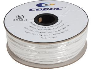 Coboc Model SPW-CL2-2C16-250-WH 250ft 16AWG CL2 Rated 2-Conductor Enhanced Loud Oxygen-Free Copper OFC Speaker Wire Cable (For In-Wall Installation)