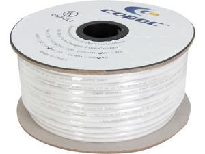 Coboc Model SPW-CL2-4C16-250-WH 250ft 16AWG CL2 Rated 4-Conductor Enhanced Loud Oxygen-Free Copper OFC Speaker Wire Cable (For In-Wall Installation)