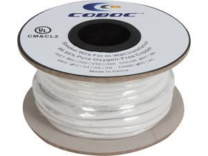 Coboc Model SPW-CL2-2C12-50-WH 50ft 12AWG CL2 Rated 2-Conductor Enhanced Loud Oxygen-Free Copper OFC Speaker Wire Cable (For In-Wall Installation)